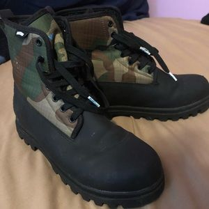 Camouflage boots!